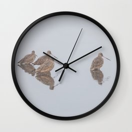 Waddling In Formation Wall Clock