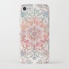 Autumn Spice Mandala in Coral, Cream and Rose iPhone 7 Slim Case