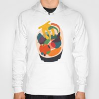 wooden Hoodies featuring Fruits in wooden bowl by Picomodi