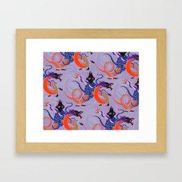 Japanese Water Dragon Framed Art Print