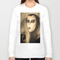 evil queen Long Sleeve T-shirts featuring evil queen -snow white by Mathieu DeVille