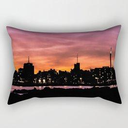 Cityscape Sunset Scene, Montevideo, Uruguay Rectangular Pillow
