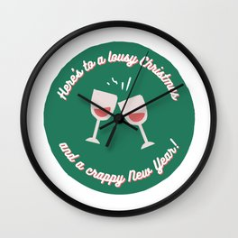 Here's to a Lousy Christmas Wall Clock