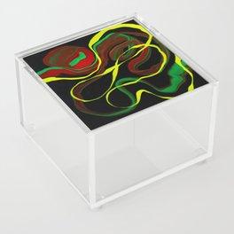Rasta Colors, Jamaican Inspired Art Acrylic Box