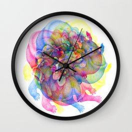 Elephant Psychedelia Wall Clock