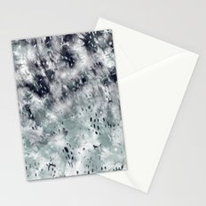 Modern abstract grey black tie dye geometric paint pattern Stationery Cards