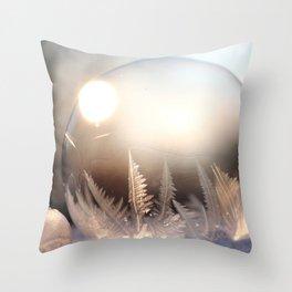 Winter Photography - Ice Ball Throw Pillow