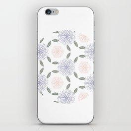 Floral circle iPhone Skin