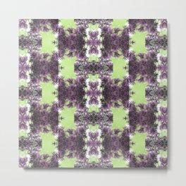 Sky Tile (Violet and Lime) Metal Print