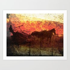 Work Horses - Heritage Series Art Print