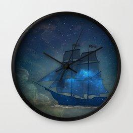 Ships and Stars Wall Clock
