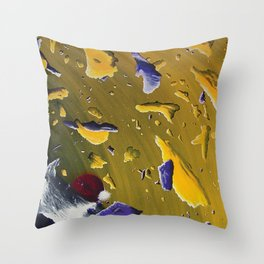 Emotional Space 1ish - Space, Panets, an Asteroids Throw Pillow