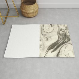 Masumi - abstract marble spilled ink japanese paper monoprint art marbled paper cell phone case Rug