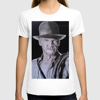indiana jones T-shirts featuring Harrison Ford (Indiana Jones) by Andulino