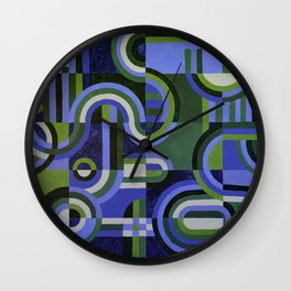 Blue and Green Retro Wall Clock