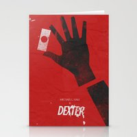 movie poster Stationery Cards featuring Dexter - Alternative Movie Poster by Stefanoreves