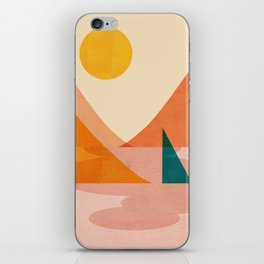 Abstraction_Lake_Sunset iPhone Skin