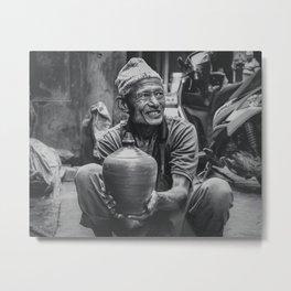 The Locals of Kathmandu City 001 Metal Print