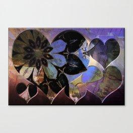 Love flower pattern Canvas Print