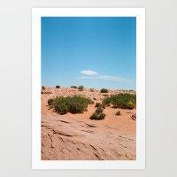 Desert sand and sky Art Print