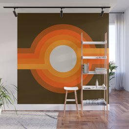 Golden Sunspot Wall Mural