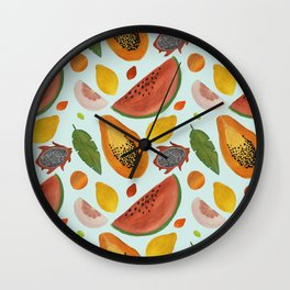 Papayas, watermelons and tropical flavours!  Wall Clock