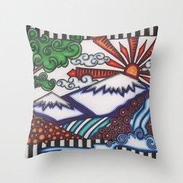 mountain hue Throw Pillow