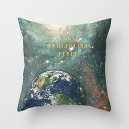 Our Earth Throw Pillow