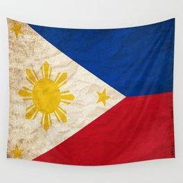 Philippines Flag Grunge Vintage Gift Idea Wall Tapestry