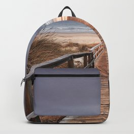 """To the beach...."". Wonderful sunrise Backpack"