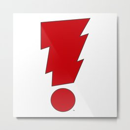 MADMAN Exclamation Bolt Classic Red! Metal Print