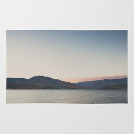 sunset over the lake ... Rug