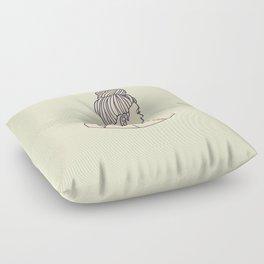 Pineapple Girl Floor Pillow