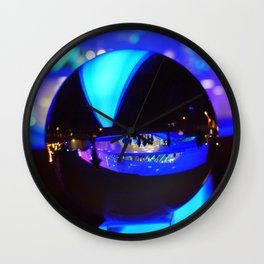 Through the crystal ball / Glass Ball Photography Wall Clock
