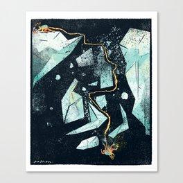 Climbing the Crevasse Canvas Print