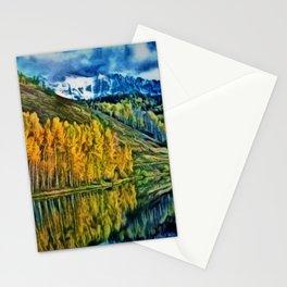 Western Rockies Aspen Forest & Lake Landscape by Jeanpaul Ferro Stationery Cards