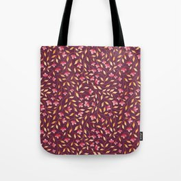 Botanical: Maroon Vine Tote Bag