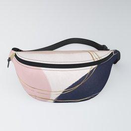 Modern Gold Strokes & Circles Minimal Pink Design Fanny Pack