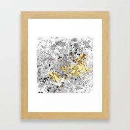 Grey Fluid Framed Art Print