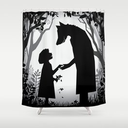 Meeting The Wolf Shower Curtain