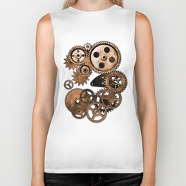 Steam Punk Gears Biker Tank