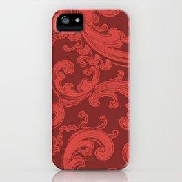 Retro Chic Swirl Grenadine iPhone Case
