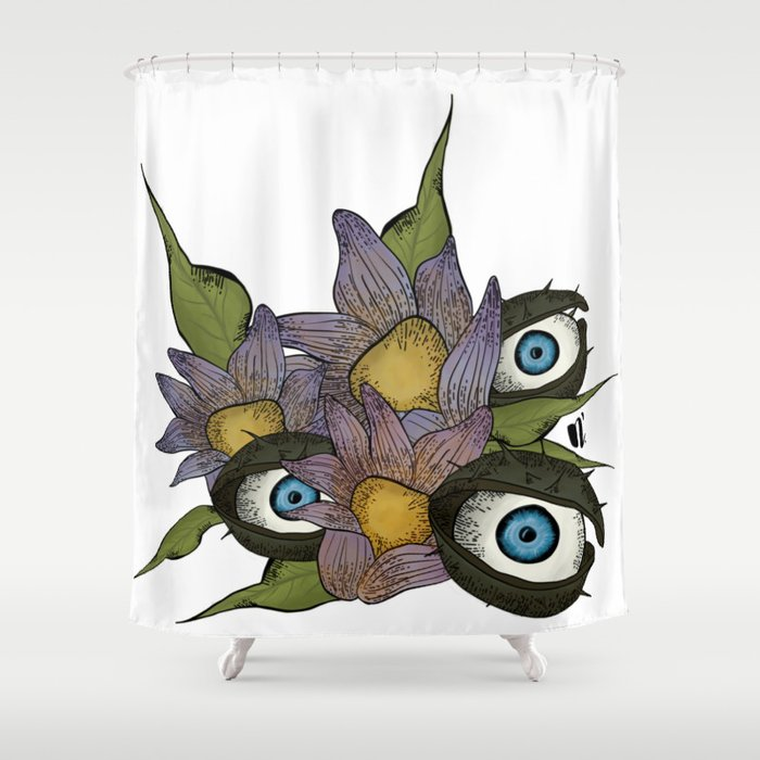 Autumn Plants Have Eyes Shower Curtain