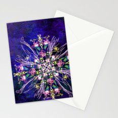 Abstract delicate silk flowers Stationery Cards