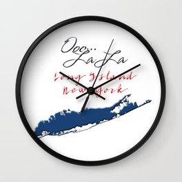 Ooo La La Long Island Wall Clock