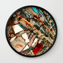 Abstract Mirror Button Baltimore Mosaic Print Wall Clock