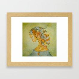 Interwoven thoughts Framed Art Print