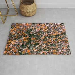 Bushes with Flowers All Over  Rug