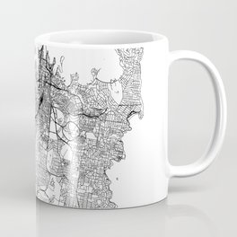 Sydney White Map Coffee Mug