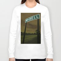 hell Long Sleeve T-shirts featuring Hell by Litew8